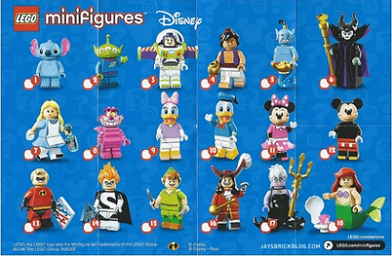 71012 Disney series minifigures