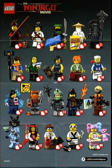 71019 The Lego Ninjago Movie minifigures_Brick Your Time