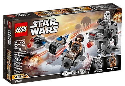 75195 Ski Speeder vs. First Order Walker Microfighters