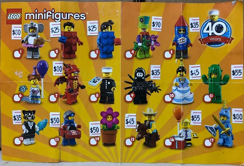 71021 Minifigures series 18 Party